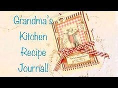 My Grandma's Kitchen Recipe Journal! - YouTube Food Journal, Recipe Journal, Journal Notebook, Junk Journal, Journal Covers, Journal Pages, Art Journal Tutorial, Right Brain, Journal Inspiration
