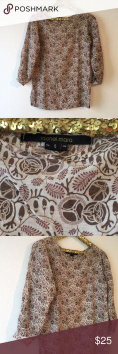 Brand new Rachel Mara cotton blouse Size small Brand new Anthropologie rachel mara Tops Blouses