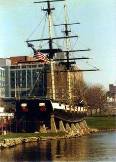 This is the Niagara as she sat in 1984, prior to being renovated and launched. At the time, tours were given and there was a thought-provoking display of what injuries from wood shrapnel might have looked like during the Battle of Lake Erie