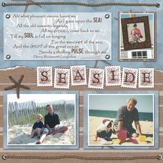 Premade Scrapbook Pages by MyLittleCornerOfTheWorld #vacationscrapbook #scrapbooking101