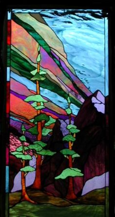 1000 Images About Stained Glass Landscapes On Pinterest