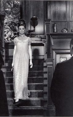 Audry Hepburn in My Fair Lady, 1964-I love this dress she had for this scene!