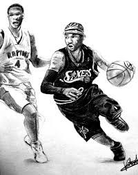 Image result for nba graphite drawings