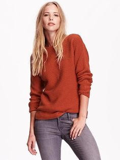 Textured Boatneck Sweater