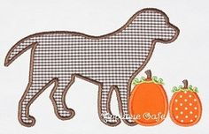 Pumpkin Dog Applique - 3 Sizes! | Tags | Machine Embroidery Designs | SWAKembroidery.com Applique Cafe
