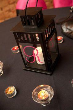 Monogram Initial for Lantern  wedding decor  photo by back40life, $22.00