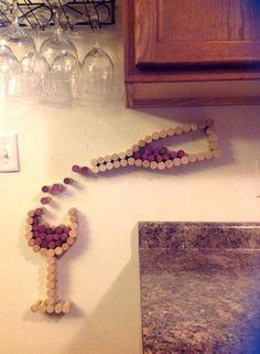 35 DIY wine cork craft ideas for home decor . - 35 DIY Wine Cork Craft Ideas for Unique Home Decoration DIY Projects - Wine Craft, Wine Cork Crafts, Wine Bottle Crafts, Wine Bottles, Wine Glass, Diy Bottle, Glass Bottle, Diy Décoration, Diy Crafts