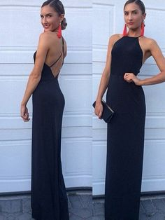 Sheath/Column Scoop Neck Jersey Floor-length with Ruffles Prom Dresses $119.99