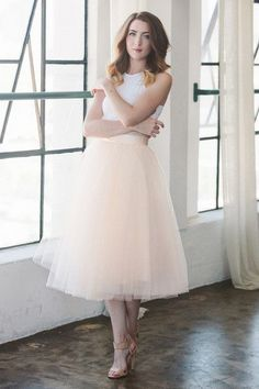 Pink Simple Midi Tulle Skirt For Wedding Party Bridesmaid New Fashion Skirts Women Tulle faldas mujer custom made Skirt Outfits, Dress Skirt, Dress Up, Cute Outfits, Midi Skirt, Fashion Mode, Skirt Fashion, Blush Tulle Skirt, Tulle Skirts