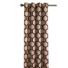 Style Selections Quinn 84-in L Geometric Red Thermal Grommet Window Curtain Panel Lowes.ca