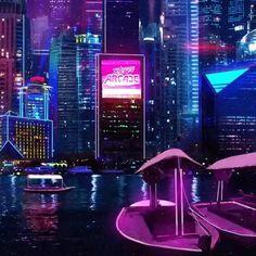 cyberpunk city view amazing beautiful look futuristic design cool Cyberpunk Aesthetic, Cyberpunk City, City Aesthetic, Futuristic City, Retro Aesthetic, Cyberpunk Tattoo, Futuristic Design, Concept Architecture, Futuristic Architecture