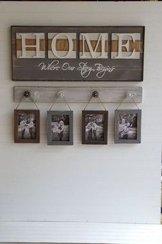 Rustic HOME sign Home Where our story starts Country decor Wedding shower gift Housewarming gift by OurLittleCountryShop on Etsy Easy Home Decor, Handmade Home Decor, Cheap Home Decor, Home And Deco, Country Decor, Country Homes, Rustic Homes, Rustic Farmhouse, Rustic Chic