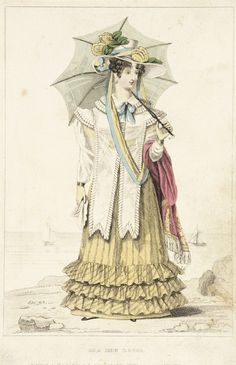 Fashion Plate (Sea Side Dress) by G. B. Whittaker (England, London, active early 19th century) - October 1, 1826