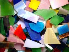 Scrap Glass - Tumbled – Mosaic Tiles And Mosaic Projects, Projects To Try, Bullseye Glass, Mosaic Madness, Thing 1, Glass Mosaic Tiles, Iridescent, Stained Glass, Scrap