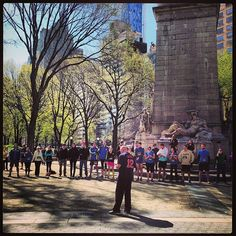 A few words before the Run for Boston in Central Park on Sunday, April 21, 2013