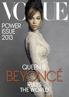 Beyoncé is stunning of course on the cover of this month's Vogue
