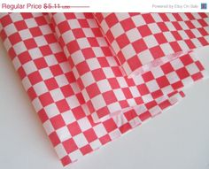 "ON SALE - 50 Sheets of Red and White Checkered Deli Wrap Wrapping Paper 12"" x 12""  $4.85"