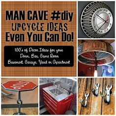 Upcycled Man Cave Ideas for Bar Apartment Garage Dorm More Just in time for Upcycle Home, Upcycled Home Decor, Man Cave Diy, Man Cave Home Bar, Retro Arcade Machine, Game Room Basement, Ultimate Man Cave, Bar Games, Really Cool Stuff