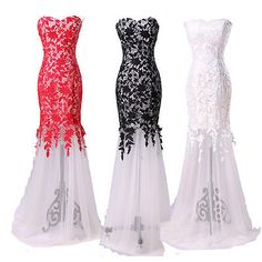 new Black Lace Prom Ball Cocktail party wedding dress Bridal Formal Evening gown