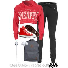 Stiles Stillinsky inspired outfit/Teen Wolf by tvdsarahmichele on Polyvore featuring Boulezar, Converse, Nixon, Inspired, TeenWolf, StilesStilinski and dylanobrien