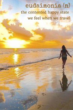 24 Unusual Travel Words You Should Know - Migrating Miss #travel #travelwords #travelword #travelling #backpacking #eudaimonia