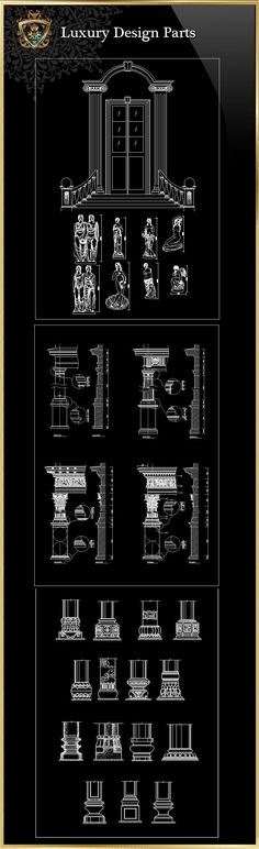 Luxury Design Parts 2 | Download CAD Blocks,Drawings,Details,3D,PSD