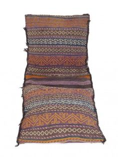 Multi-Color Wool Bukhara Saddle Bag 50.5in x 21in