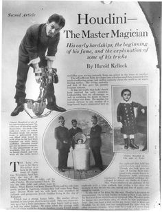 The young Houdini. Courtesy of The Post-Crescent