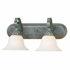 Lowe's :: Volume International 2-Light Florentia Imperial Bronze Bathroom Vanity Light $78.30   * not totally sold on the shades, but definitely still a contender *