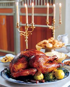 This magnificent roast turkey is bathed in fragrant quince syrup until the skin is golden-brown. The turkey is brined to make it extra-juicy.Get the Turkey with Quince Glaze Recipe Christmas Turkey, Thanksgiving Turkey, Thanksgiving Recipes, November Thanksgiving, Thanksgiving Blessings, Thanksgiving Celebration, Merry Christmas, Quince Recipes, Pollo Guisado