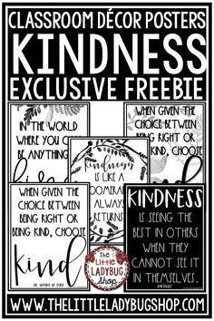 You will love these Free Kindness Posters perfect for your classroom bulletin boards, class doors, or student desks. Grab these limited time freebie posters. Perfect for 3rd grade, 4th grade, 5th grade classrooms. #kindnessposters #kindnessfreebie