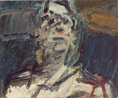 Frank Auerbach  Head of JYM  Oil on canvas  52.0 x 62.5 cms (20.44 x 24.56 ins)  1983