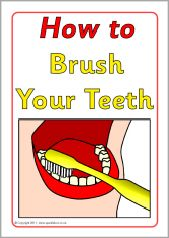 How to brush your teeth instructions (SB3934) - SparkleBox . Print & laminate the cards