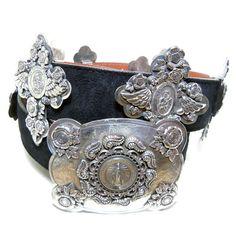 Sterling Silver Concha Belts by Alex Vazquez, via Behance