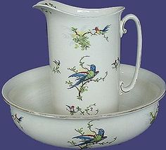 An antique wash set from the days before a private bath was a given!
