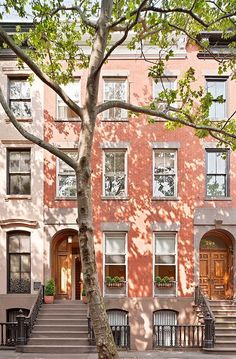 Brownstones in Manhattan.