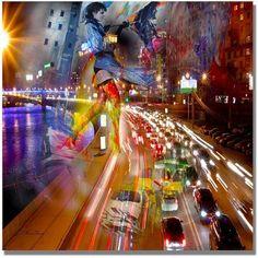 Trademark Fine Art Traffic Canvas Art, Size: 24 x 24, Multicolor