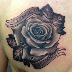 Black and grey rose tattoo by Jen Sterry #Rose #BlackandGrey #Tattoo