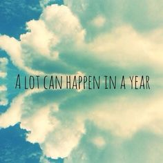 A lot can happen in a year...yep a lot...finally able to feel freedom...the control has been released :-D