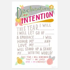 Declaration of Intention by Emily McDowell
