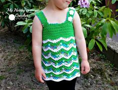 Tropical Weaves - Lacy Chevron Top For Little Girls | Free Crochet Pattern | My Hobby is Crochet
