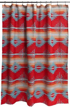Red Ranch Southwestern Shower Curtain