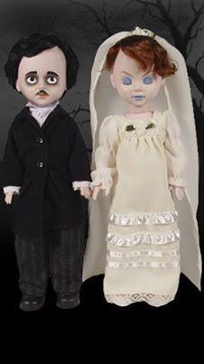 'Edgar Allan Poe & Annabel Lee' Doll Set