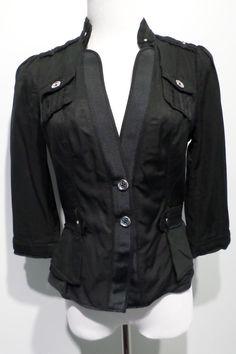 White House Black Market Black Jacket Size 4 #WhiteHouseBlackMarket #BasicJacket