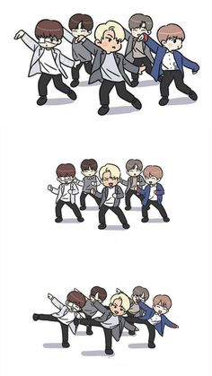 Bts Chibi, Anime Chibi, 3 In One, One Pic, All About Kpop, Kpop Drawings, Love U Forever, Lai Guanlin, My Big Love