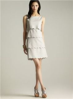 Scalloped Edge Women's Daytime Dresses, Tiered Dress, Scalloped Edge, Designer Shoes, Detail, Clothes, Style, Fashion, Outfits