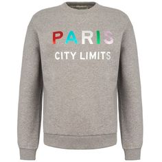 être cécile Paris City Limits Boyfriend Sweatshirt ($120) ❤ liked on Polyvore featuring tops, hoodies, sweatshirts, slogan sweatshirts, fleece lined sweatshirt, boyfriend sweatshirt, long sleeve oversized top and oversized tops