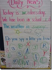 Responsive Classroom teachers and those who do morning meeting....check this out:   Daily news chart examples / morning messages