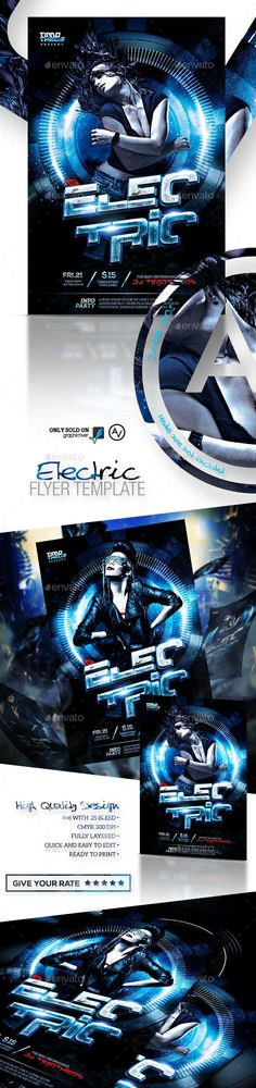 Electric Flyer Template PSD   Buy and Download: http://graphicriver.net/item/electric-flyer-template/9192266?WT.oss_phrase=&WT.oss_rank=28&WT.z_author=amorjesu&WT.ac=search_thumb&ref=ksioks