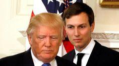 De Amerikaanse president Donald Trump en zijn schoonzoon Jared Kushner.